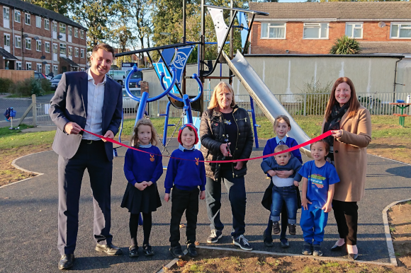 Frimley playground transformed in £50,000 makeover