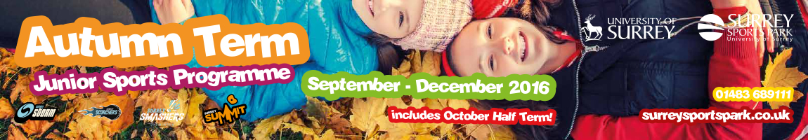 Autumn sports courses for children at Surrey Sports Park