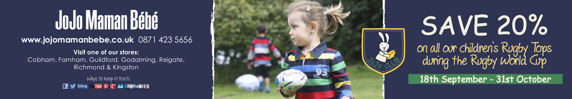 Save 20% on rugby top at Jo Jo