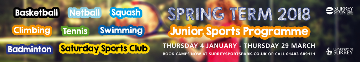 Spring term 2018 Junior sports camps at Surrey Sports Park