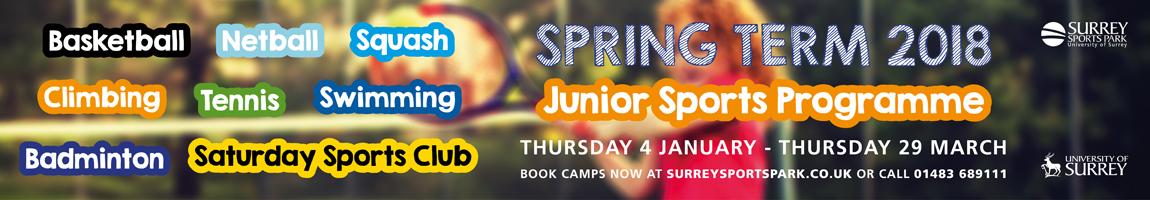 Spring term 2018 Junior sports camps at Surrey Sports Park