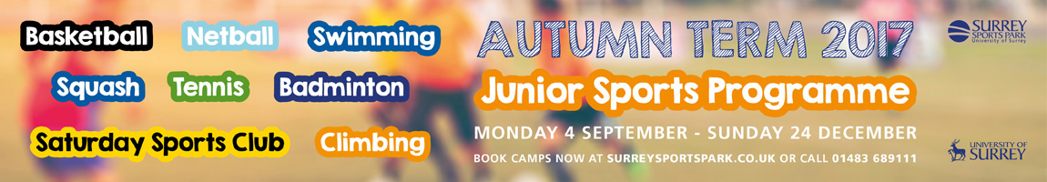 Autumn camps for Juniors at Surrey Sports Park