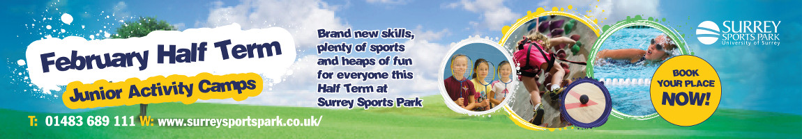 Book a course or camp at Surrey Sports Park this February half term